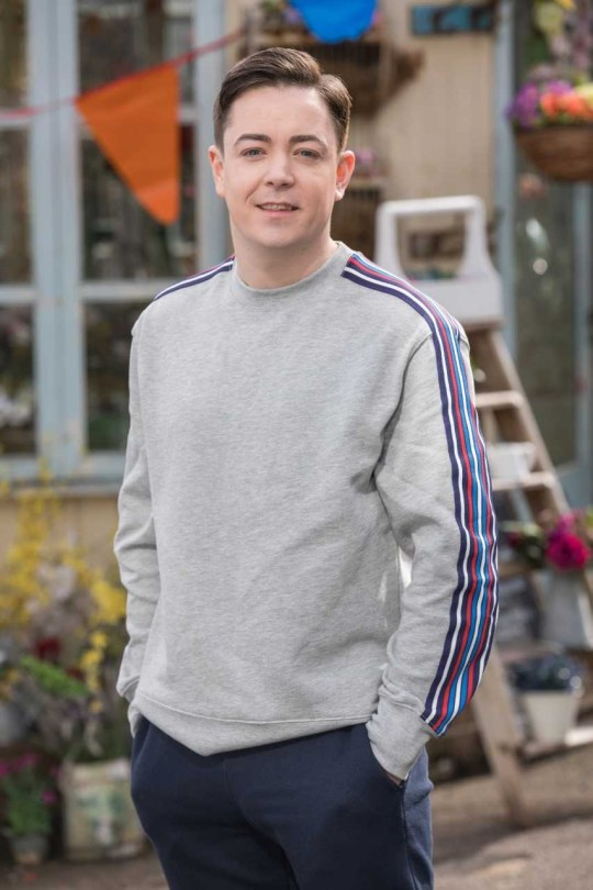 Keith Rice as Hollyoaks' Finn O'Connor