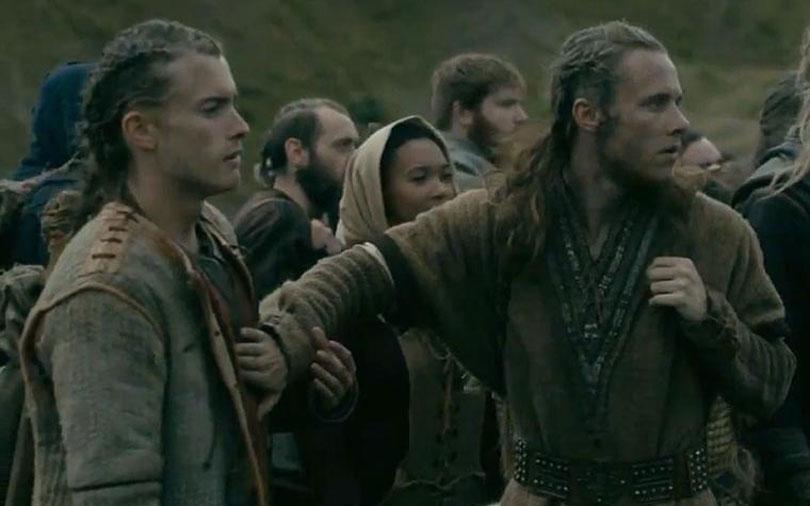 Elijah Rown and Jack McEvoy in Vikings