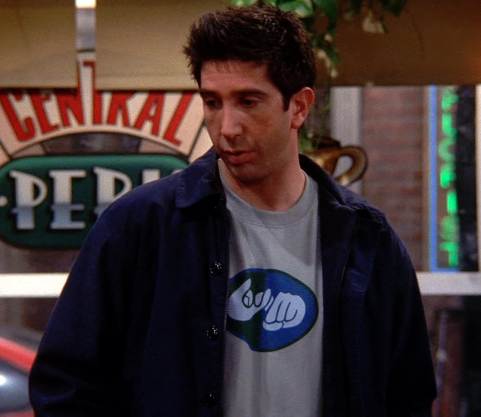 Ross Geller's T-shirt has a hidden meaning in Friends and our minds are blown