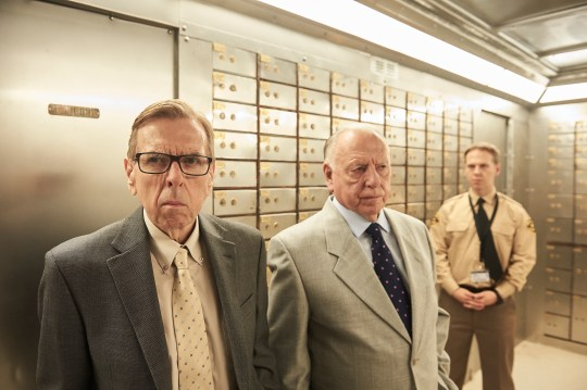 TIMOTHY SPALL as Terry Perkins,KENNETH CRANHAM as Brian Reader and THOMAS COOMBES as Gary Stevenson