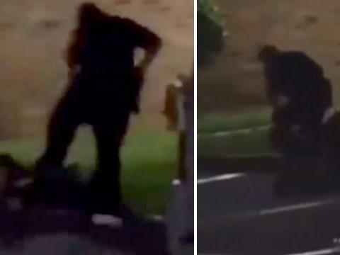 Horrifying moment cop shoots woman dead as she screams 'I'm pregnant'