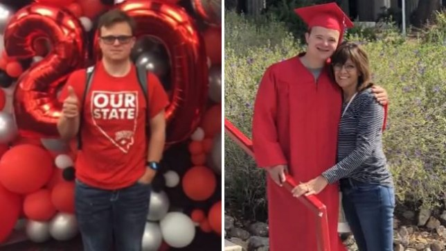 Student with Down syndrome makes history by graduating from college