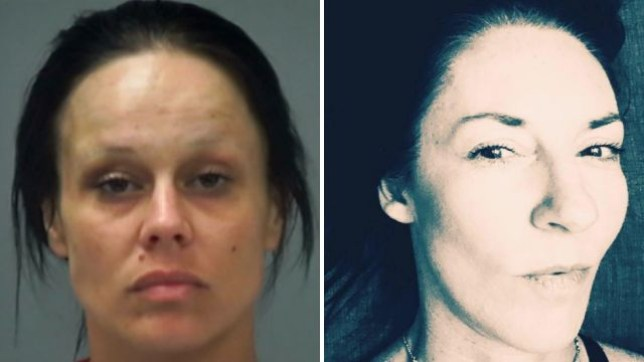 Ashley Perkins, left, is accused of battering wife Ruth McClellan-Perkins, right, with a bedpost after Ruth accidentally put their weed through a wash