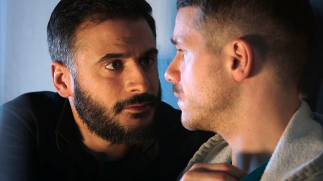 Isaac controls Dom in Holby City