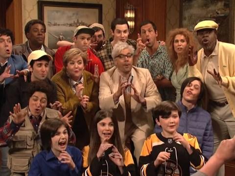 Kristen Wiig and Jimmy Fallon return to SNL as every Adam Sandler character unites