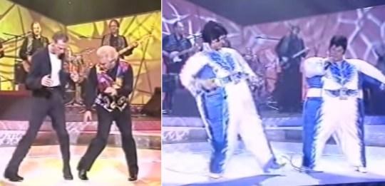 Luke Goss and Freddie Starr
