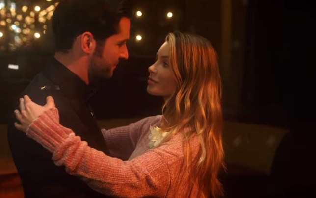 Lucifer and Detective Chloe Decker dance together