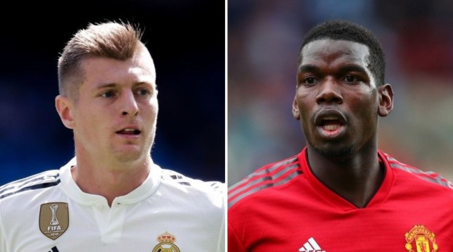 Toni Kroos is ready to 'fight' Manchester United's Paul Pogba for a place in Real Madrid's midfield