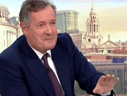 Piers Morgan says he's 'literally a homosexual' before quickly correcting himself