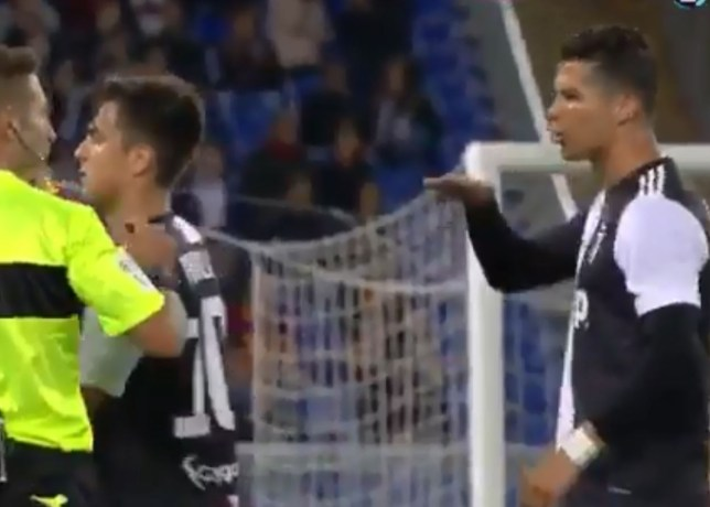 Cristiano Ronaldo was involved in an altercation wit Roma's Alessandro Florenzi