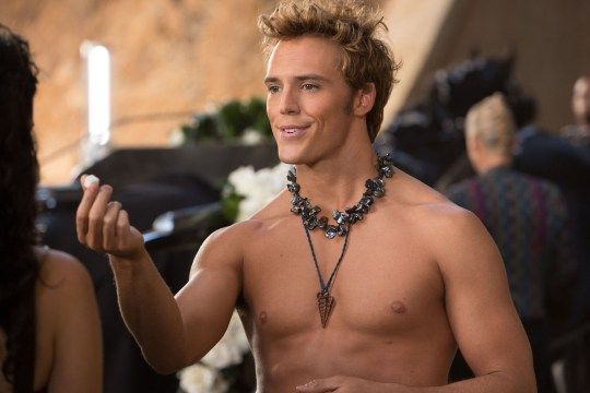 Sam Claflin as Finnick Odair in The Hunger Games