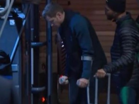Tottenham star Jan Vertonghen leaves Ajax stadium on crutches after incredible Champions League comeback
