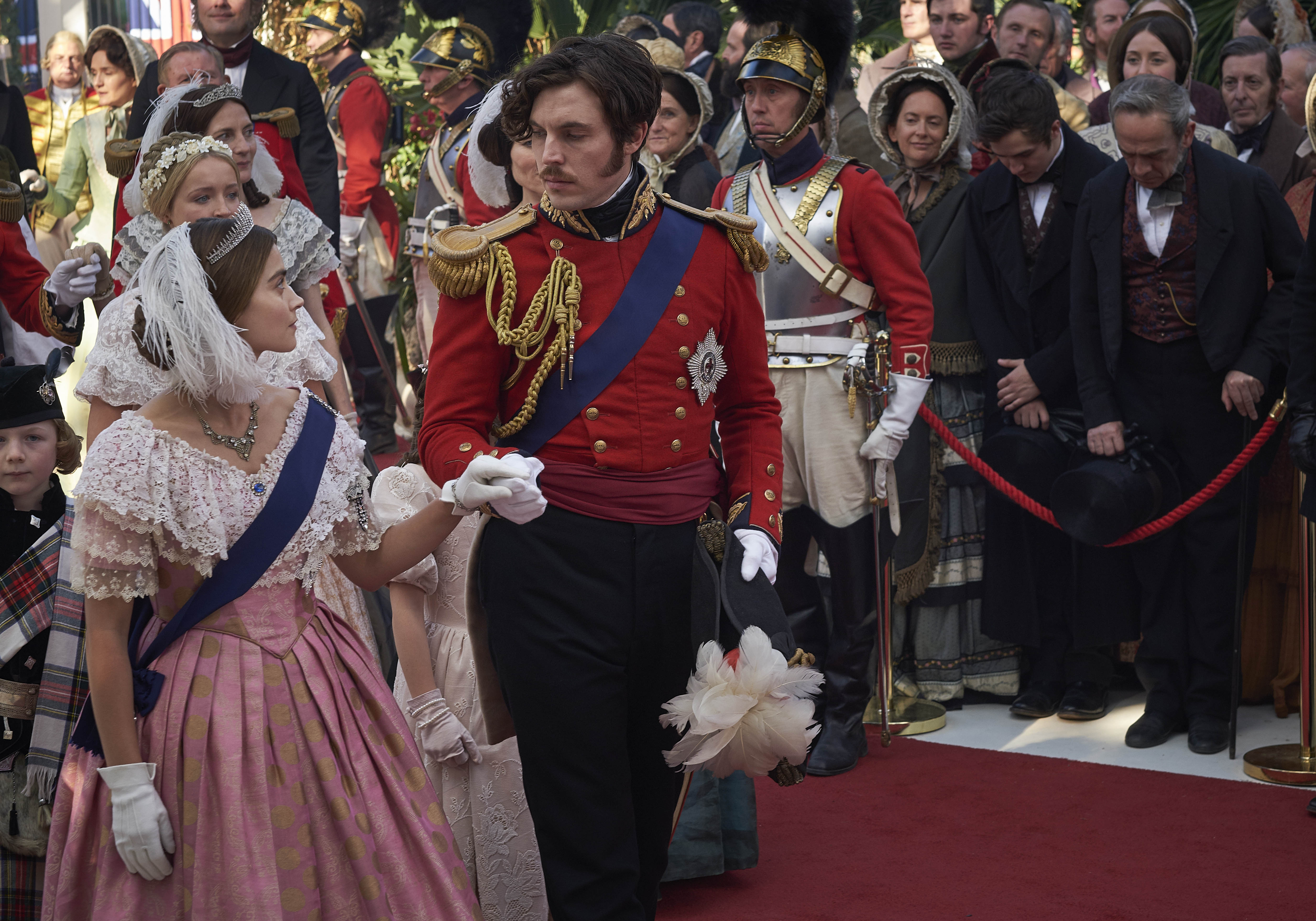 Jenna Coleman and Tom Hughes in Victoria at the Great Exhibition