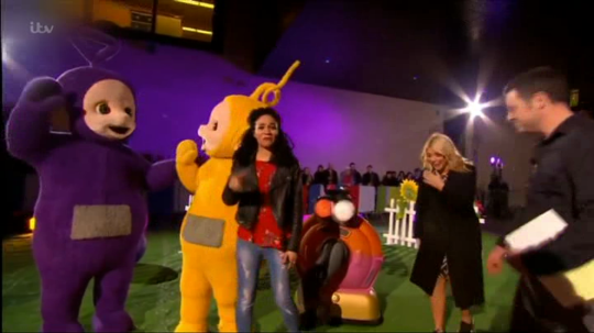 Teletubbies interviewed on the one show