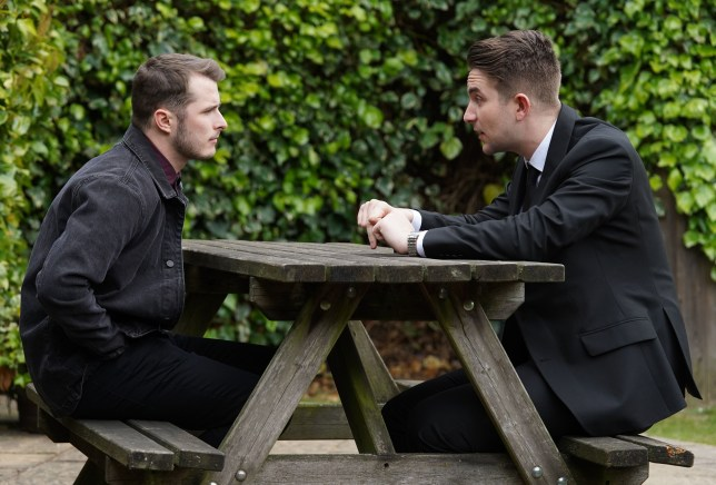 Ben and Callum talk in EastEnders
