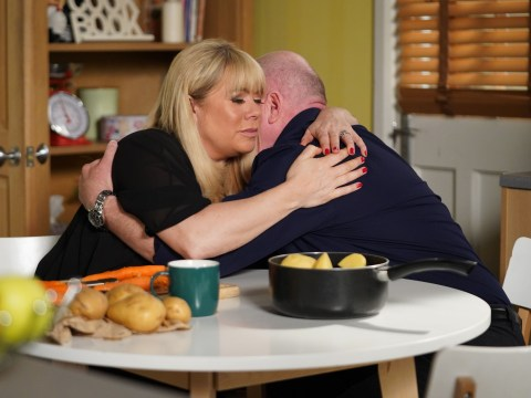 Who is the father of Sharon Mitchell's baby in EastEnders?