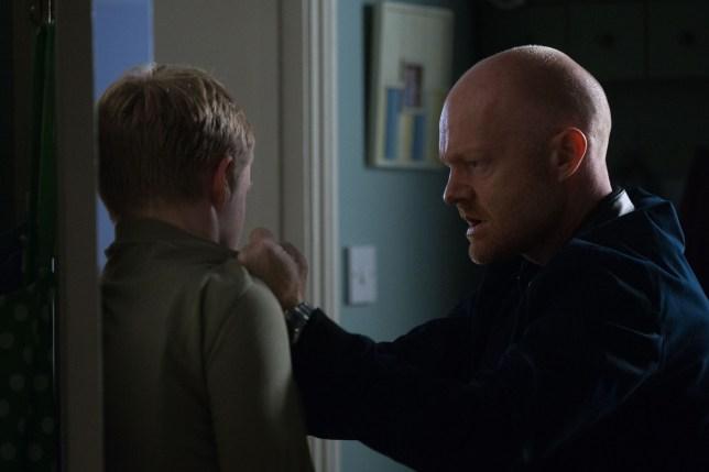 Max attacks Bobby in EastEnders