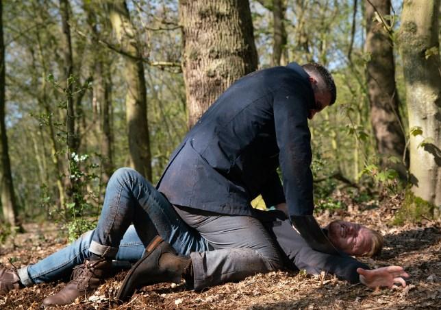 Gary tries to kill Rick in Coronation Street