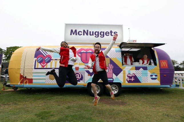 The McNugget van at a festival