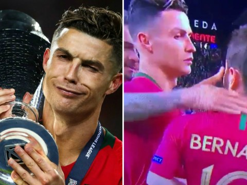Cristiano Ronaldo unimpressed after missing out on UEFA Nations League Player of the Tournament award
