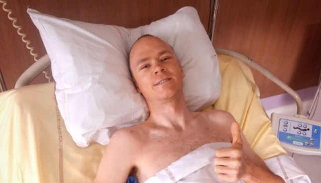 Chris Froome is recovering but likely to spend up to six weeks in hospital