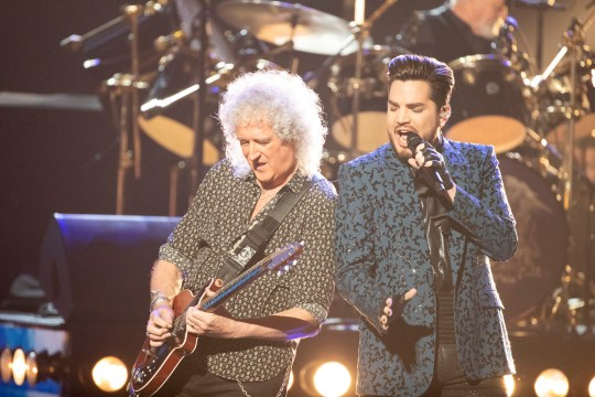 Adam Lambert and Queen perform at the Oscars