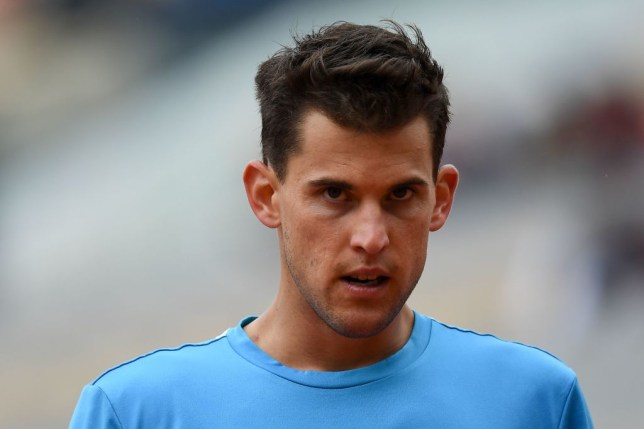 Dominic Thiem looks on during his latest French Open win