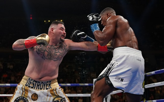Andy Ruiz punches Anthony Joshua