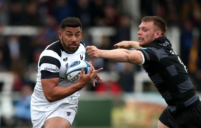 Charles Piutau of Bristol Bears evades a tackle from Callum Chick from Newcastle Falcons at the Gallagher Premiership Rugby match