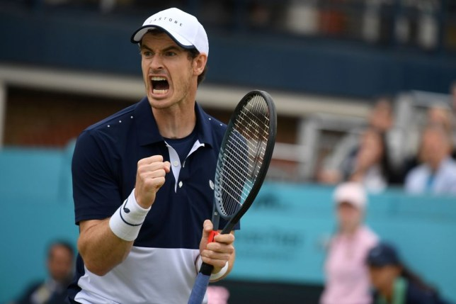 What time is Andy Murray playing at Wimbledon today and on which court?