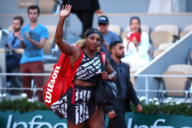 Serena Williams waves goodbye to the French Open