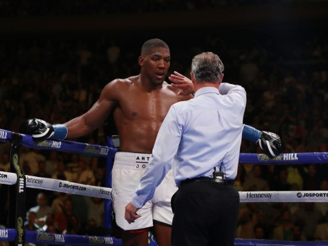 Concussion tests didn't stop Anthony Joshua from attending post-fight press conference