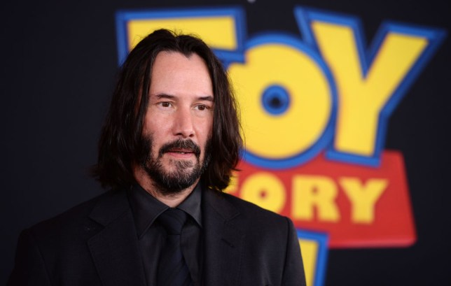 Close-up of Keanu Reeves on red carpet at Toy Story 4 premiere