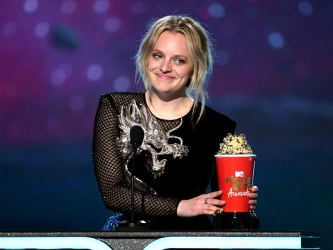 The Handmaid's Tale star Elisabeth Moss praises 'badass women' as she wins MTV Movie and TV award