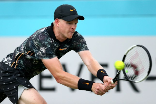 Kyle Edmund stretches for a backhand at Queen's