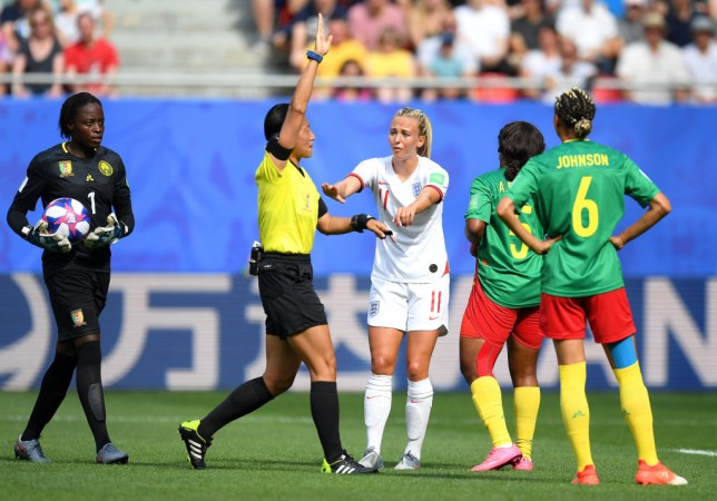 England forward Toni Duggan spat on by Cameroon opponent during World Cup last-16 clash
