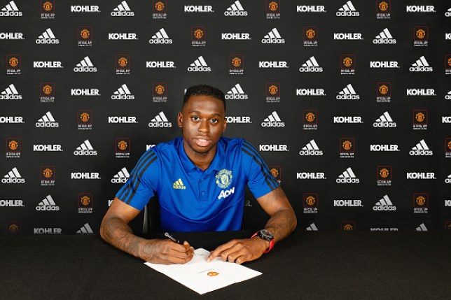 Aaron Wan-Bissaka finished his 50 million pound move to Manchester United from Crystal Palace