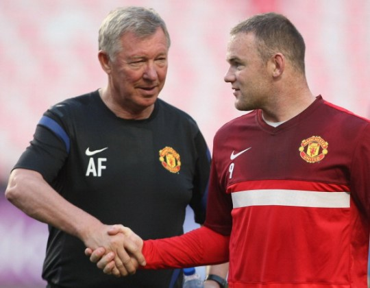 Alex Ferguson and Wayne Rooney