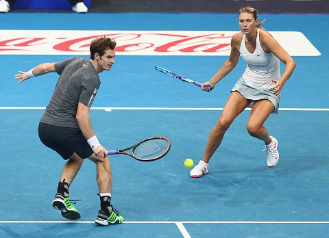 Maria Sharapova throws her hat in the ring to partner Andy Murray at Wimbledon