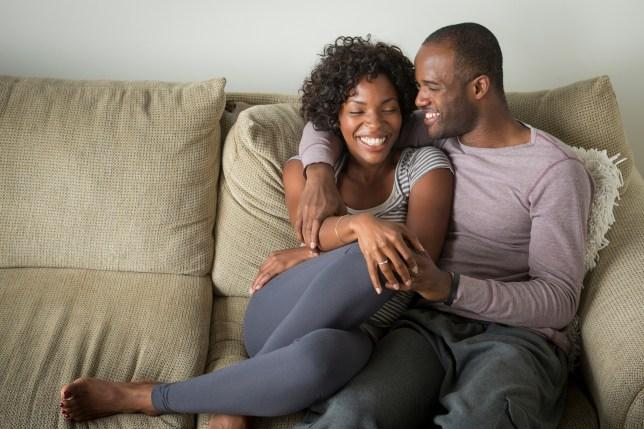Couple sitting on a sofa