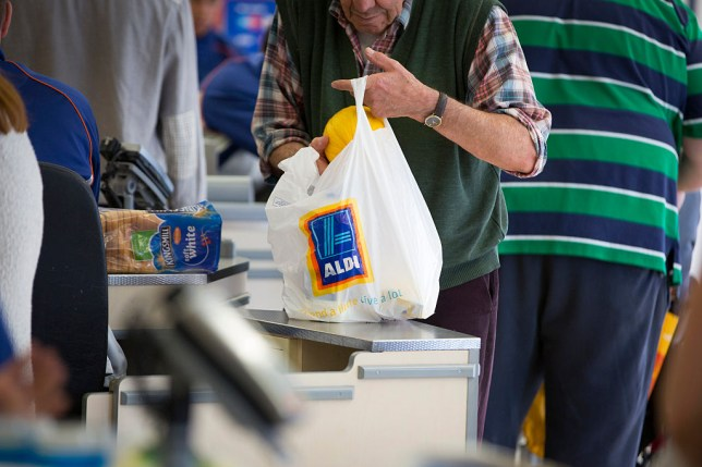 Aldi plastic bag