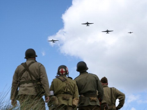 When is the D-Day 75 flypast and how to see the Red Arrows display?