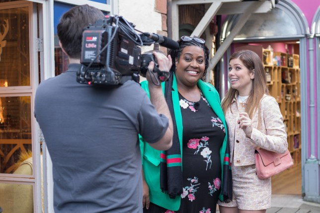 Alison Hammond with Maxine in Hollyoaks