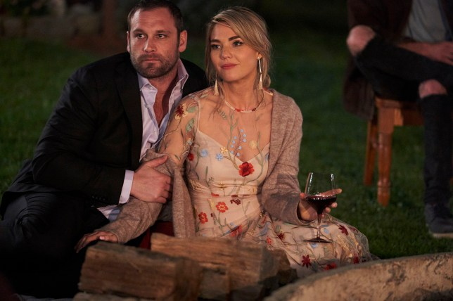 Robbo (Jake Ryan) and Jasmine (Sam Frost) together