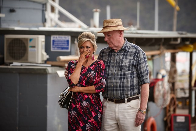 Marilyn (Emily Symons) and Alf (Ray Meagher) at the Surf Club
