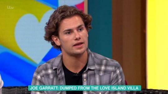 Love Island's Joe Garratt