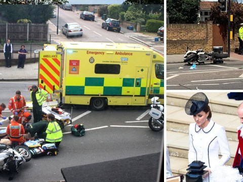 Widow, 83, hit by Kate Middleton and Prince William's police outrider left in serious condition