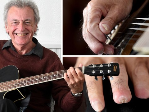 Guitarist who lost fingertips to sepsis heads back on stage for first time