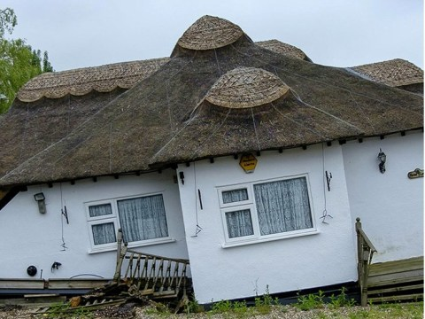 Couple wake up to find £850,000 cottage has started sinking into the ground