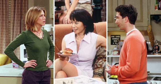 Julie, Ross and and Rachel In Friends